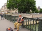 Busking on the bridge
