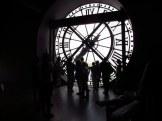At the clockface inside Musee d'Orsay, Paris