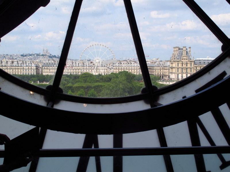 Looking through the clock at Musee d'Orsay, Paris