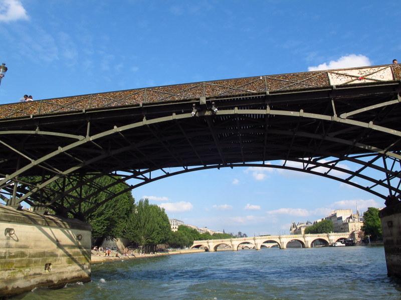 Another Paris bridge full of lovers locks