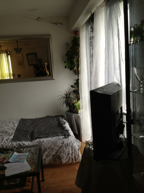 Using the lounge as a bedroom, a week ahead of time