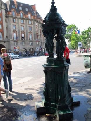 drinking fountain in paris
