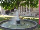 fountain outside the grand palais paris