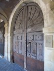 great door at place des vosges paris