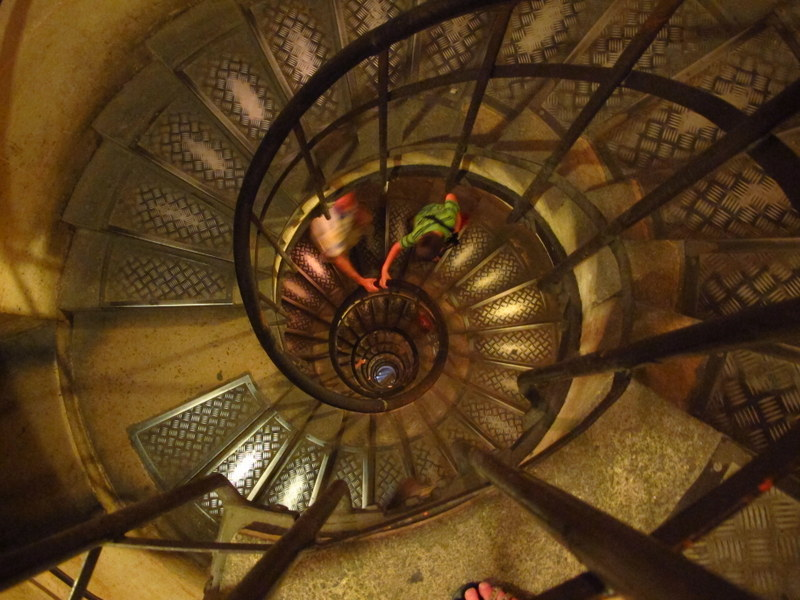 Stairs inside the Arc de Triomphe