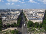 From the top of Arc de Triomphe, Paris