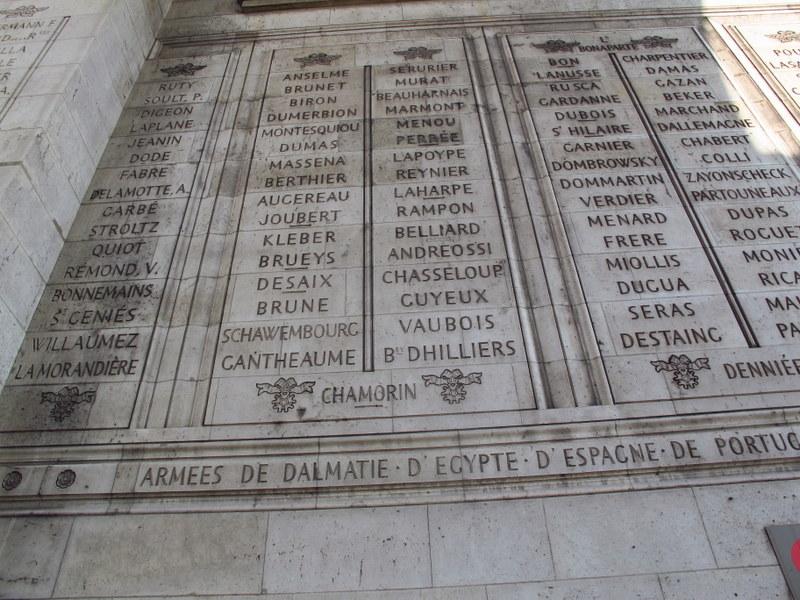Detail at Arc de Triomphe