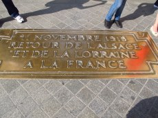 Plaque of Rememberance, Arc de Triomphe, Paris