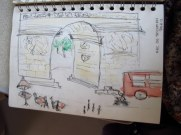 VERY VERY ordinary sketch of the Arc de Triomph