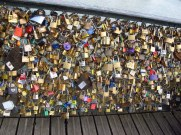 lovers locks on the bridge