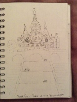 Unfinished Sacré Cœur sketch