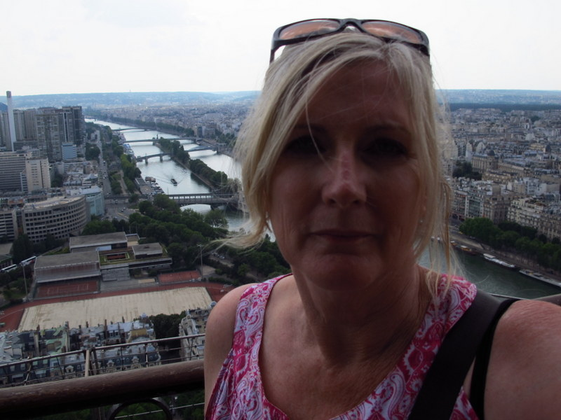Selfie on the Eiffel Tower
