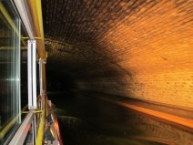 In the underground canal