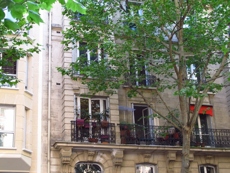 Lovely apartment balconies in the 19th