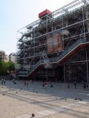 "Centre Pompidou building's ""exposed skeleton"""