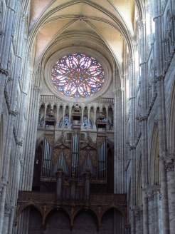 Rose window of the Amiens Cathedral, France
