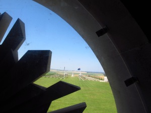 From the tower of the Australian Memorial outside Villers-Bretonneux, France