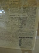 Newspaper clipping in Musee Memoire 1939-1945, Calais, France
