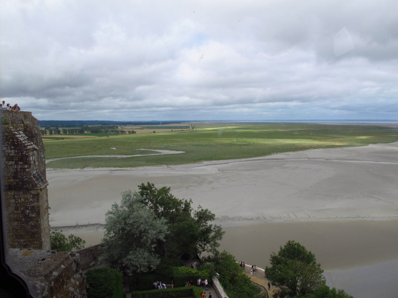 View from the top. Mont St Michel