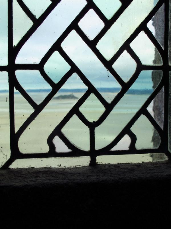 View through a window, Mont St Michel