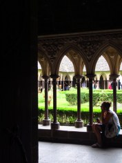 Cloisters, Mont St Michel