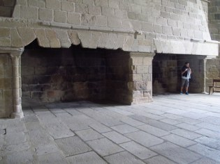 Old fireplaces, Mont St Michel