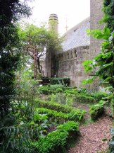 Away from the crowd, gardens on Mont St Michel