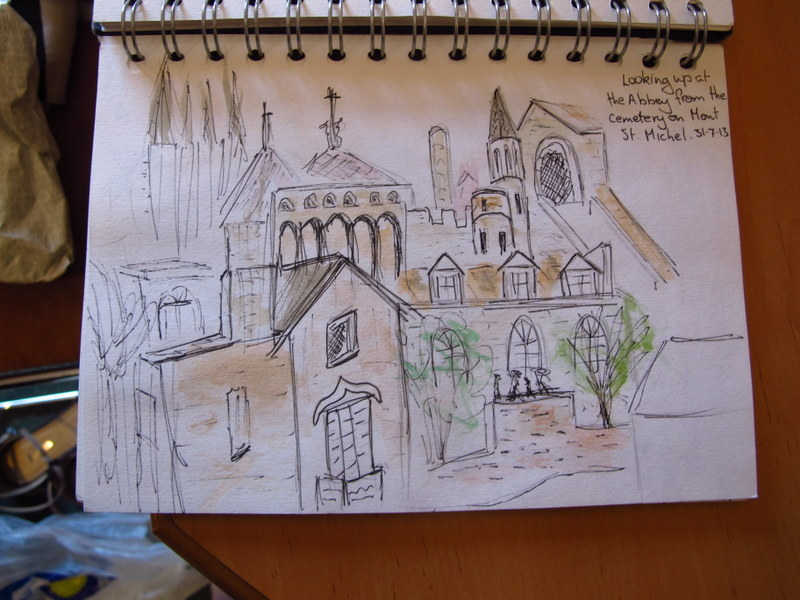 Sketching on Mont St Michel - good thing I ve improved since then!