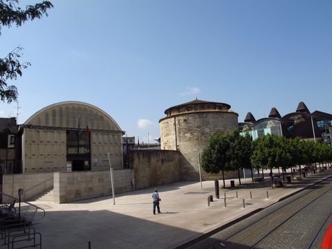 Roman architecture near the Place de Republique, Bordeaux France