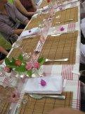 Pretty lunch table at Chateau Siaurac