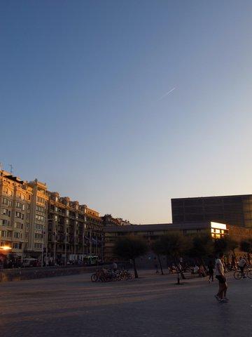 Gorgeous afternoon sun in San Sebastian Spain