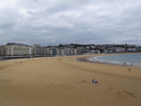 The beautiful La Concha beach in San Sebastian