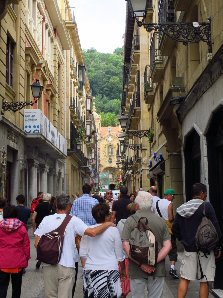 Wandering in the Old Town of San Sebastian