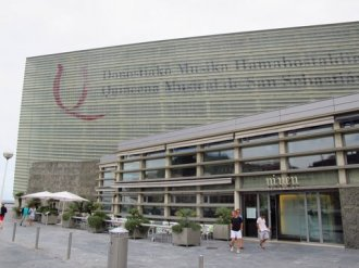 The very modern Kursaal - Palace of Congress and Concert Hall