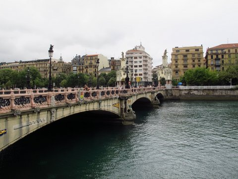 Puente de Maria Cristina which is protected by the angels at both sides