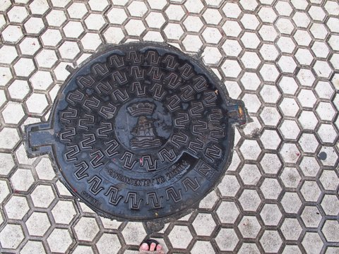 Even utility grates can be little works of art