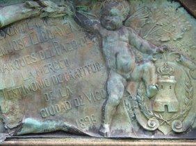 Statue detail in Vigo Spain