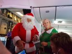Santa & helper on Air NZ flight Christmas Day 2016
