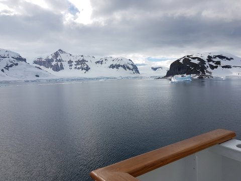1st day views of Antarctica
