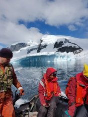 Fascinating icebergs on 1st zodiac ride