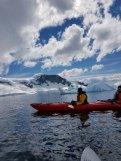 Kayaking around Danco Is.