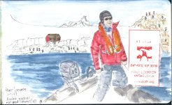 leaving Port Lockroy sketch