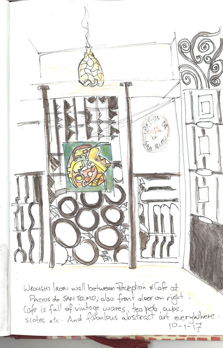 Inside Patios de San Telmo sketch