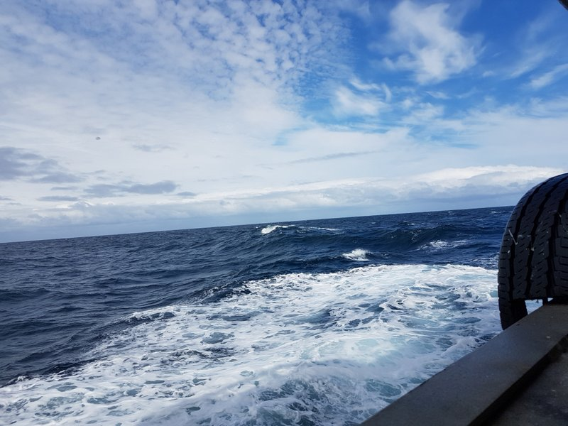 Patches of blue during the Drake crossing