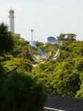 Floralis Generica, the huge flower that opens and shuts daily from the rooftop of Museo Nacional de Bellas Artes, BA