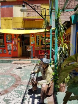 Courtyard shops in La Boca