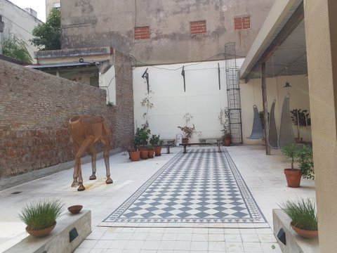 More courtyards and sculptures