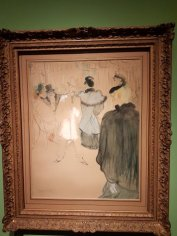 Toulouse Lautrec painting at Van Gogh painting at Museo Nacional de Bellas Artes, BA