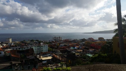 Looking down to Baracoa from the hotel