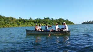 Rowing on the Tey River Baracoa